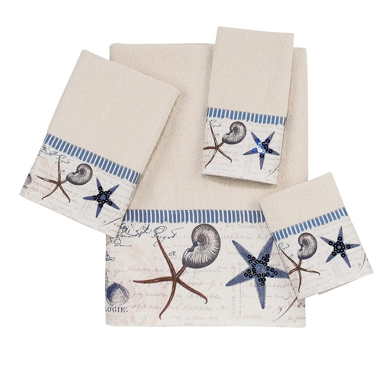 飲食店同様にナサニエル区Avanti Linens Antigua 4-Piece Towel Set, Includes 1 Bath, 1 Hand, 1 Wash and 1 Fingertip Towel, Ivory