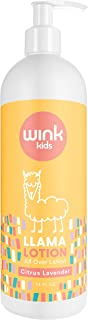 14 Oz Wink Naturals Calming Baby Llama Lotion, No Harsh Chemicals, Soft Snuggly Skin, Paraben-Free, Natural Relief, Dye-Free, Moisturizing Lavender Citrus Essential Oils