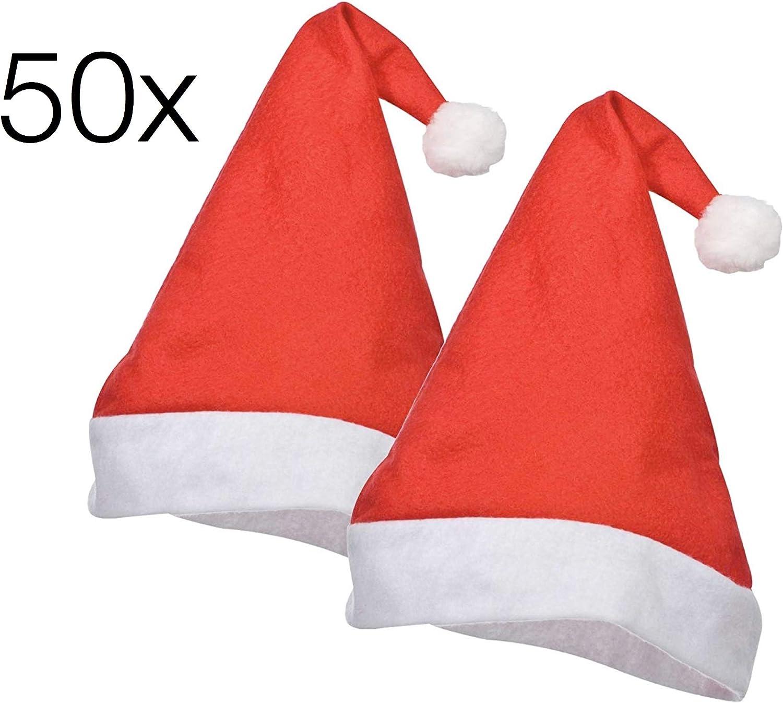 TK Gruppe Timo Klingler Weihnachtsmütze Nikolausmütze Mütze Weihnachten Nikolaus Weihnachtsmarkt Weihnachtsfeier Erwachsene Kinder rot (50x Stück) B07JMHTG3H Sehen Sie die Welt aus der Perspektive des Kindes | Berühmter Laden