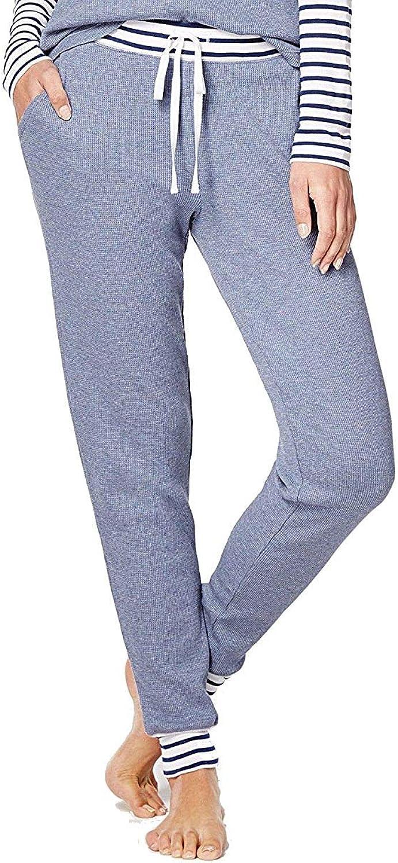 Alfani Womens StripedTrim Thermal Pajama Pants