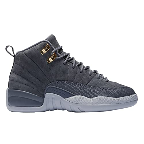 hot sale online b1f66 91ca3 NIKE Jordan Air 12 Retro (BG) Big Kids Shoes Dark Grey Dark Grey