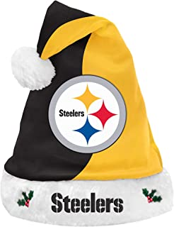 FOCO Colorblock Santa Hat – Limited Edition Santa Hat – Represent The NFL- Show Your Team Spirit with Officially Licensed Football Holiday Fan Gear