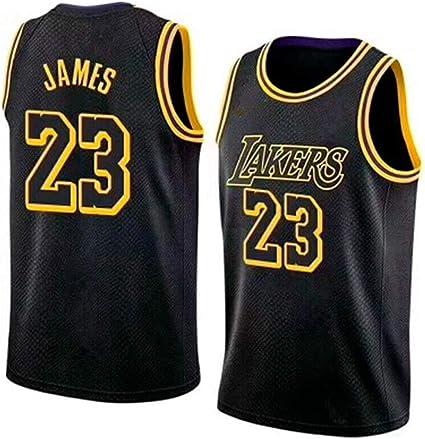 Los Angeles Lakers Estilo Deportivo Nuevo Tejido Bordado RAAVIN Lebron James#23 La Camiseta de Baloncesto