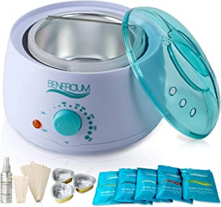 Beneficium Wax Warmer Hair Removal Kit with Hard Wax Beans, Wax Applicator Sticks, Bowls and after waxing Lotion (Wax Warmer Kit)