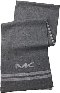 Michael Kors Men`s Big MK Logo Bottom Stripe Muffler Scarf