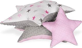 Cojín decorativo para habitación infantil, diseño de estrella, cojín de felpa para niño y niña