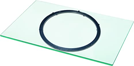 Vcm Tv Drehplatte Fernseh Drehteller Drehteller Drehbühne Glas Drehbar Klarglas 40 X 60 X 2 Cm Swing Küche Haushalt