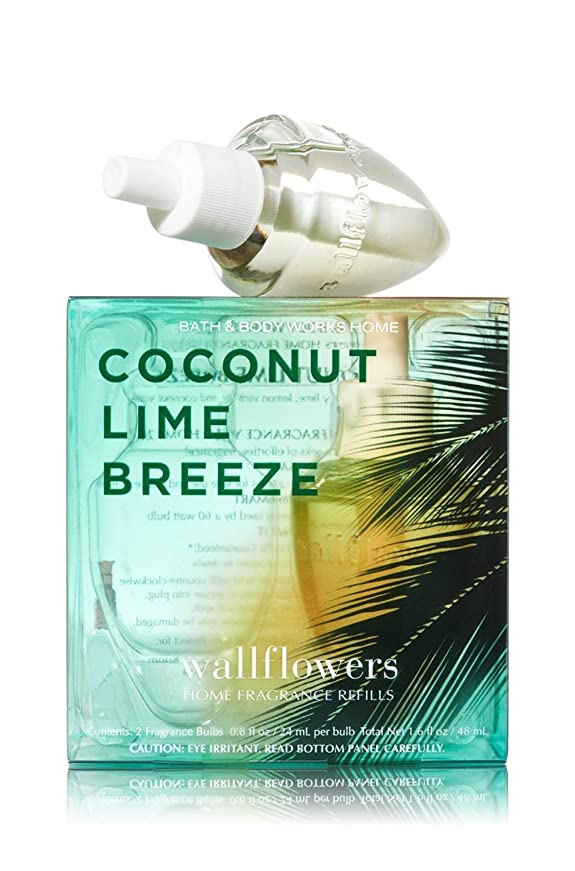 ボイラー変化四【Bath&Body Works/バス&ボディワークス】 ホームフレグランス 詰替えリフィル(2個入り) ココナッツライムブリーズ Wallflowers Home Fragrance 2-Pack Refills Coconut Lime Breeze [並行輸入品]