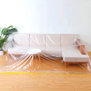 "146""Lx106""W Extra Large Sofa Couch Cover, Heavy Duty PEVA Waterproof & Dustproof Sofa Storage Covers,ed Sofa Couch Furnitu..."