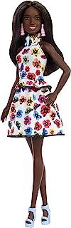 Barbie Fashionista - Muñeca morena con vestido floral (