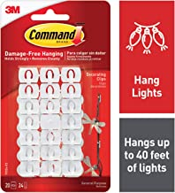 Command Light Clips, White, White, Decorate Damage-Free (17026-ES)