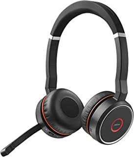 Jabra Evolve 75 UC Stereo Wireless Bluetooth Headset/Music Headphones