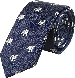 dog pattern tie