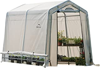ShelterLogic 6' x 8' x 6' GrowIT Box Peak Style Roof and Easy Flow Roll-Up Side Vents Greenhouse, 6 by 8 by 6.5-Feet