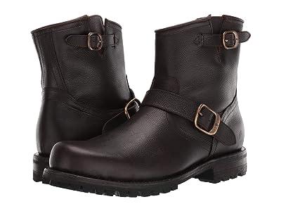 Frye Boyd Engineer Boots (Dark Brown WP Tumbled Full Grain) Men