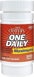 21st Century, One Daily, Unisex, Maximum, Multivitamin Multimineral, 100 Tablets