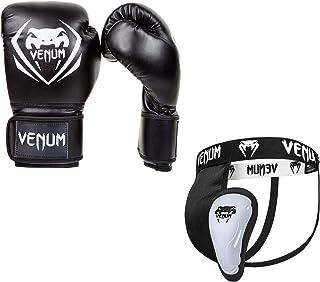 Venum 男女通用 Contender V.09 拳击套装,黑色,10 盎司/中号
