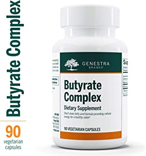 Genestra Brands - Butyrate Complex - Butyric Acid from Calcium/Magnesium Butyrate - 90 Capsules