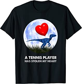 Joueur de tennis drôle T Rex, humour de dinosaure T-Shirt