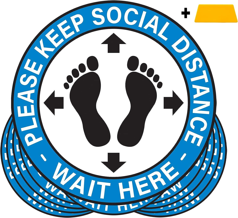 Social Distance Floor Stickers Superior - -10
