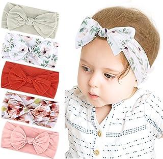 Makone Wide Headband Baby, Newborn Headbands cotton, Nylon Hairband Bow Elastics, Child Hair Accessories for Girls Newborn...