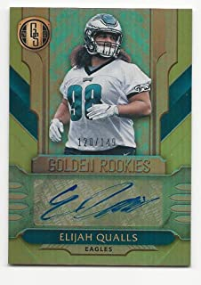 2017 Panini Gold Standard Golden Rookies Autographs Elijah Qualls #GREQ NM Near Mint RC Rookie Auto 120/149