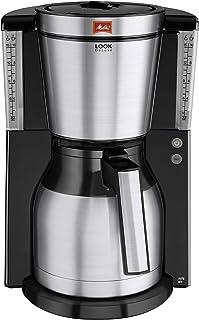 Melitta Cafetera de filtro con jarra isotérmica, Selector de aroma, Look Therm DeLuxe, Negro/Acero inoxidable mate, 1011-14