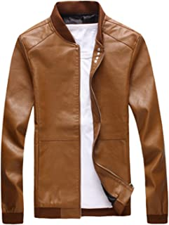 Olrek Men's Fashion Leather Jacket