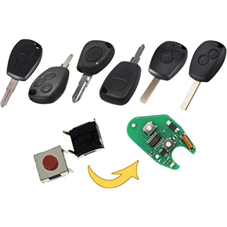 Myshopx Microtaster Taster 6 Stück Fernbedienung Schlüssel Fernbedienung Taster Micro Smd Taster Autoschlüssel Opel Mp09 Auto