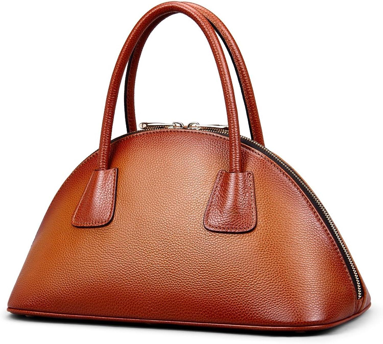 Borgasets Women's Genuine Leather Perfect Tote Shoulder Handbag