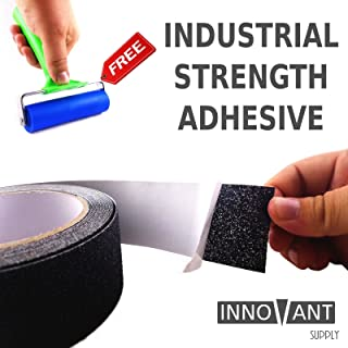 Innovant Supply Anti-Slip Tape - Indoor/Outdoor Safety Grip Non-Slip Tape, Strong Friction Anti-Skid Grit Surface - Increase Grip on Stairs, Truck Beds and Equipment - 4 Inch x 16 Foot (Industrial)