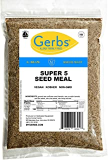 GERBS Ground Super Five Seed Meal, 16 ounce Bag, Top 14 Food Allergy Free, Non GMO -Vegan, Keto, Paleo Friendly