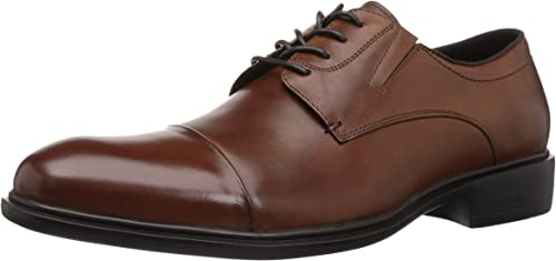 Kenneth Cole New York Men& 039;s Garner LACE UP B Oxford, Brandy, 13 M US