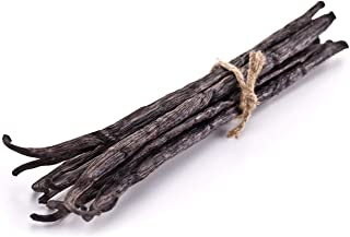 5 Vanilla Beans - Whole Extract Grade B Pods for Baking, Homemade Extract, Brewing, Coffee, Cooking - (Tahitian)