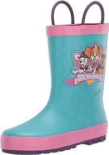 Western Chief Kids Paw Patrol Licensed Waterproof Rain Boot with Easy Pull on Handles