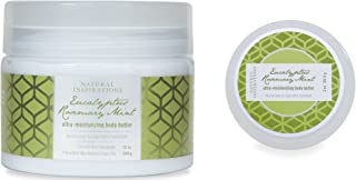 Natural Inspirations Large & Travel Body Butter 2 Piece Set, Eucalyptus Rosemary Mint