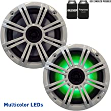 """KICKER 6.5"""" White LED Marine Speakers (Qty 2) 1 Pair of OEM Replacement Speakers"""