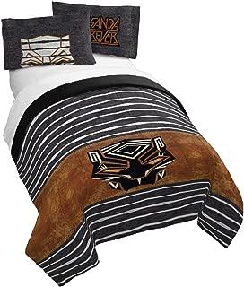 Jay Franco Marvel Black Panther Jungle Full/Queen Comforter Set - Super Soft Kids Reversible Bedding - Fade Resistant Polyester Microfiber Fill (Official Marvel Product)