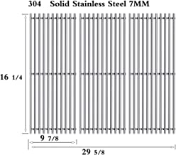 Htanch SF1593(3-Pack) Stainless Steel Cooking Grates for Backyard Grill BY12-084-029-98, BY13-101-001-13, BY14-101-001-04, Uniflame GBC1059WB, GBC1059WB-C, GBC1059WE-C, GBC1069WB-C, GBC1143W-C