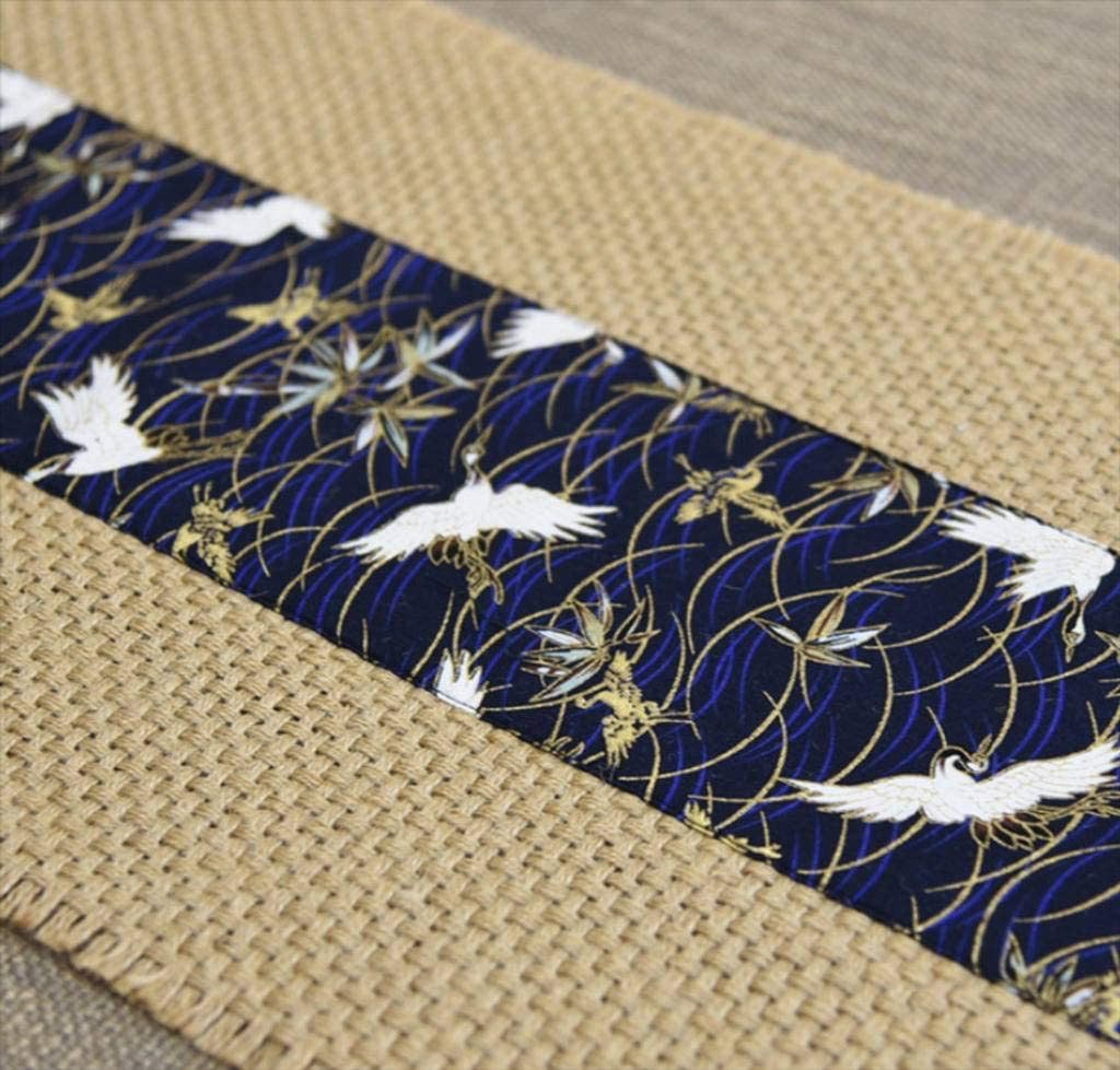YUBIN Burlap Table Some reservation Runner Vintage Antique SALENEW very popular! Tablecloth Fabric Jute