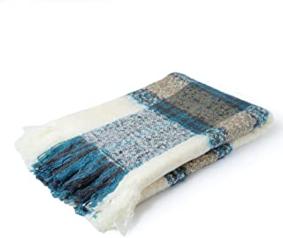 CUDDLE DREAMS Exclusive Throw Blanket for Sofa & Home Decoration (Mohair Blue)