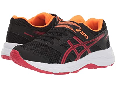 ASICS Kids Gel-Contend 5 (Toddler/Little Kid) (Black/Speed Red) Boys Shoes