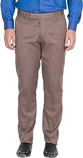 American-Elm Men's Light Brown Colour Formal Trouser