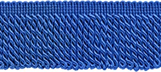 8 Yard Value Pack 24 Ft // 7.3 Meters 3 Inch Long Teal Blue Thin Bullion Fringe Trim|Style# BFTC3|Color: Light Peacock Blue 9620