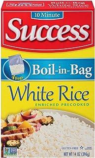 Success Boil-in-Bag Rice, Long Grain White Rice, 14 oz Box