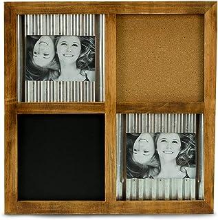 """Bey-Berk Wall 4""""x6"""" Frame w/Chalkboard & Cork Board"""