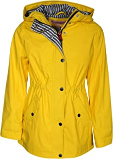 be3e812e4365 Urban Republic Girls Anorak Vinyl Raincoat with Hood and Cinched Waist