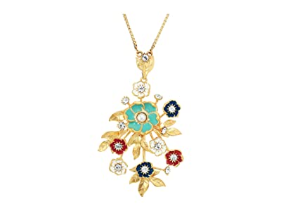 SOLE / SOCIETY 30 Bouquet Necklace (12K Soft Polish Gold/Ivory/Crystal/Multicolor) Necklace
