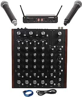Rane MP2015 Rotary Club DJ 4-Deck Mixer w/USB+Samson Dual Handheld Wireless Mics