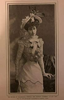 1902 Vintage Magazine Illustration Duchess of Marlborough Consuelo Vanderbilt